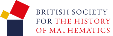 BSHM logo, showing a graphical version of Pythagoras' Theorem