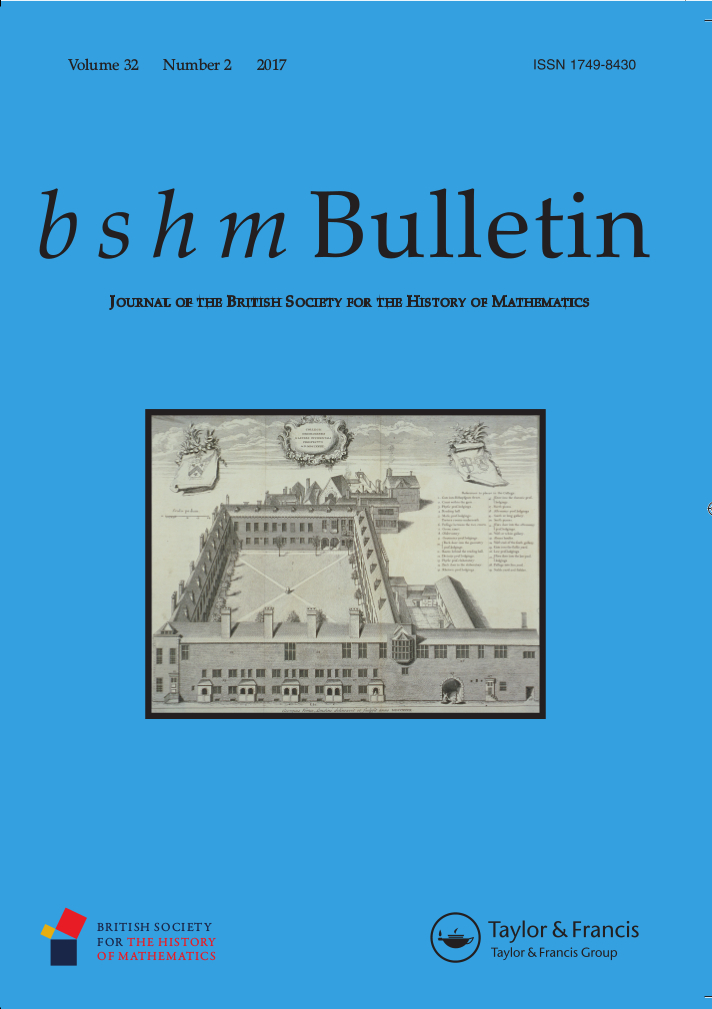Image of cover of BSHM Bulletin vol 32 issue 2