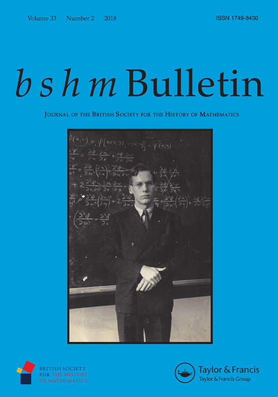 Front cover of BSHM Bulletin Vol.33 Issue 2