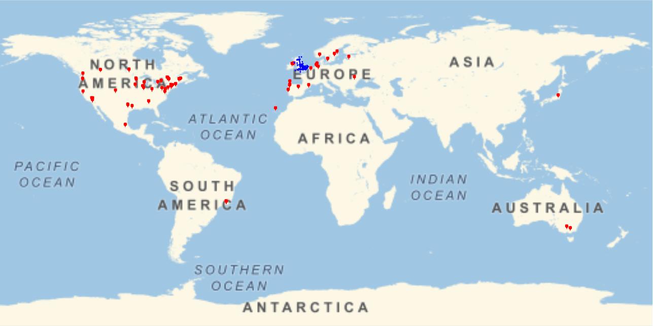 Global map of BSHM members